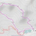Pointe du Drone,Grande Chenalette mappa itinerario