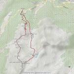 mont colmet mappa itinerario