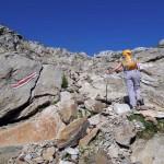 canale di rocce oltre la pietraia