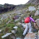 canale sopra le rocce scure