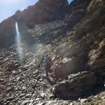 verso lo spuntone roccioso