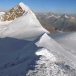 panorama nord con davanti il lyskamm e dietro i 4000 di zermatt