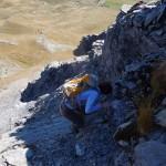 superamento della roccia liscia