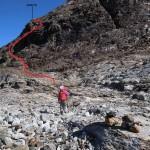 verso la puntina rocciosa