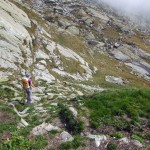 verso le rocce lisce
