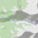 monte cresto mappa itinerario