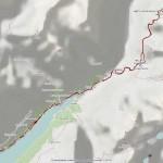 bivacco tete des roeses mappa itinerario