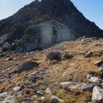 roccia con la spaccatura