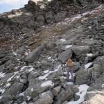 attraversamento della parte alta della pietraia