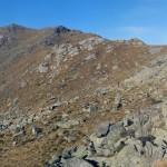 monte gregorio dal versante di discesa
