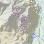 Monte Gregorio mappa itinerario