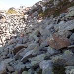 grosse rocce nella conca