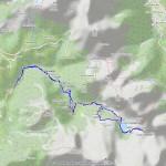 Passo e laghi Frudiere mappa itinerario