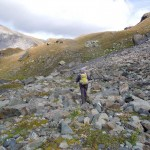 pietraia prima del sentiero