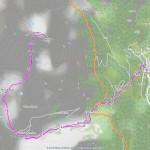 2016-09-14 - Monte Croce, Rif Tournalin mappa itinerario