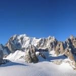 monte bianco con punta helbronner e rif torino