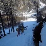 sopra l'arrivo dello skilift